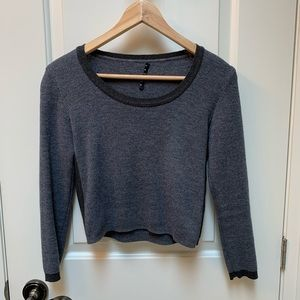 Sisley Wool Cropped Wool Sweater